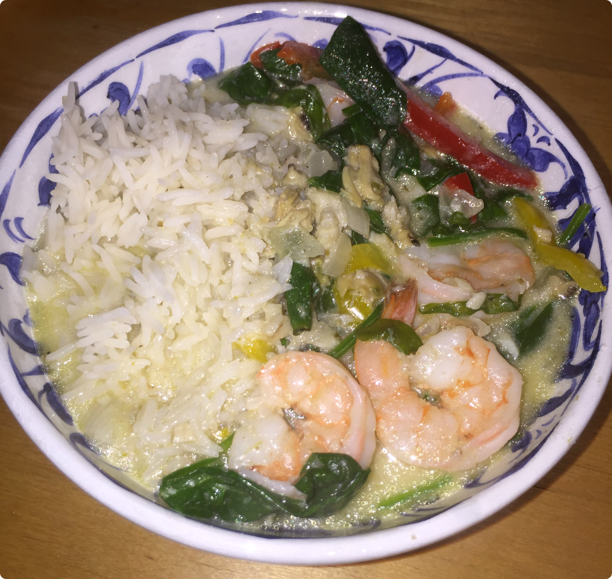 Winter food: Seafood curry with rice